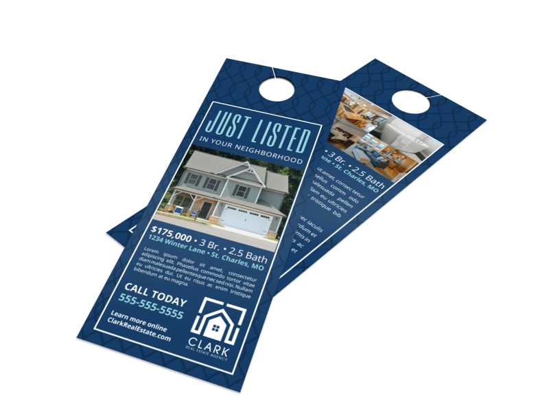 Simple Just Listed Door Hanger Template Preview 1