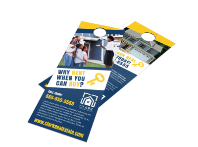 Rent or Buy Door Hanger Template preview