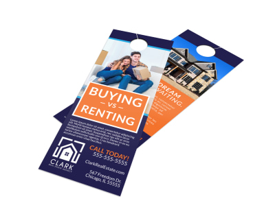 Buying Vs Renting Door Hanger Template preview