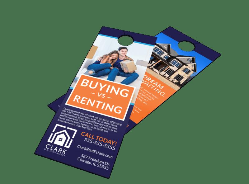 Buying Vs Renting Door Hanger Template Preview 1