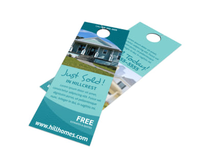 Simple Real Estate Just Sold Door Hanger Template preview