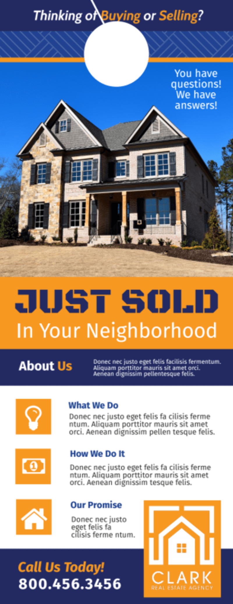 Neighborhood Just Sold Door Hanger Template Preview 2