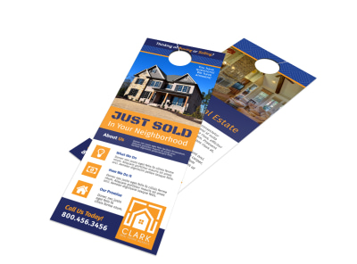 Neighborhood Just Sold Door Hanger Template preview