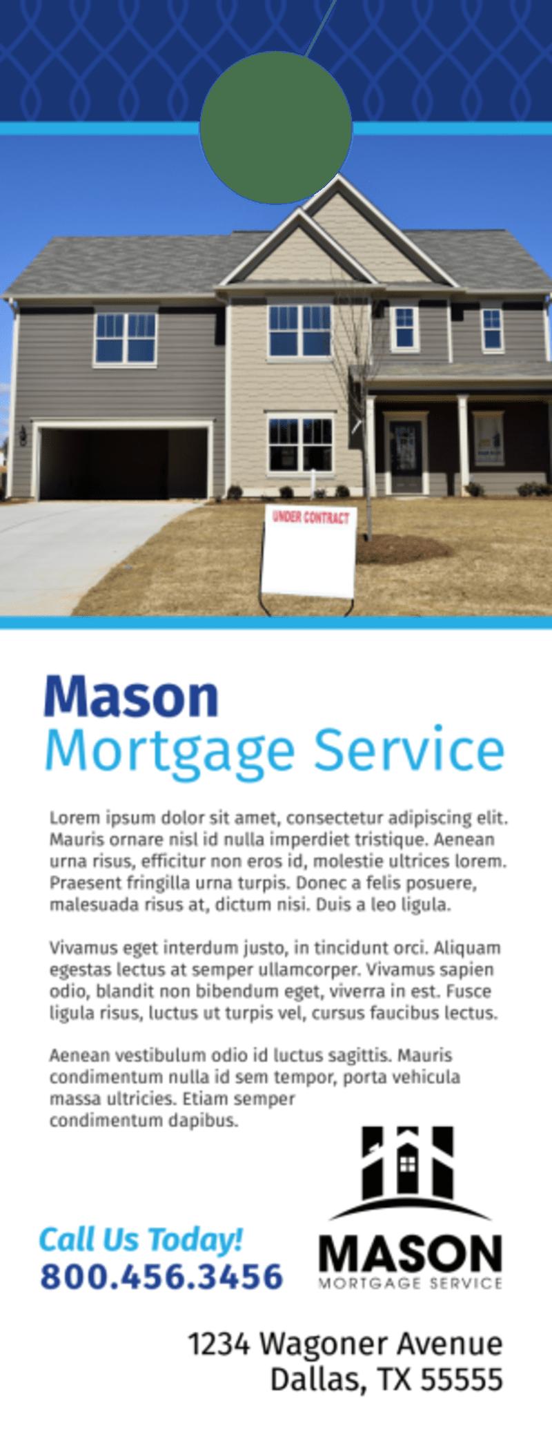 Blue Mortgage Door Hanger Template Preview 3