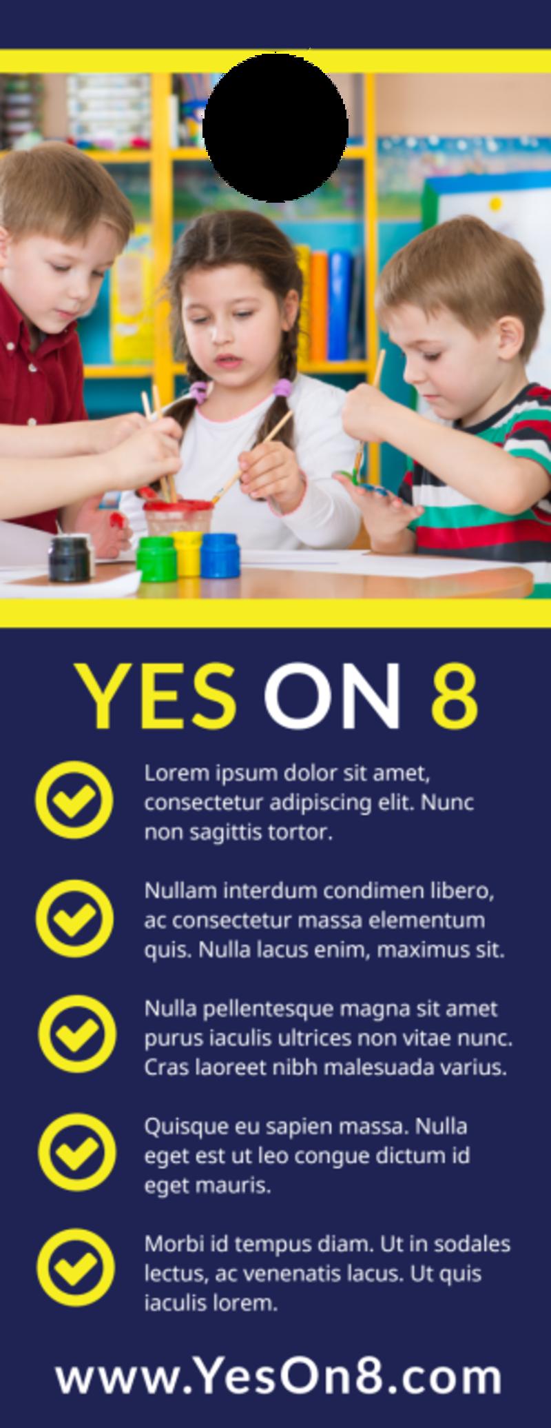 Vote Yes Door Hanger Template Preview 3