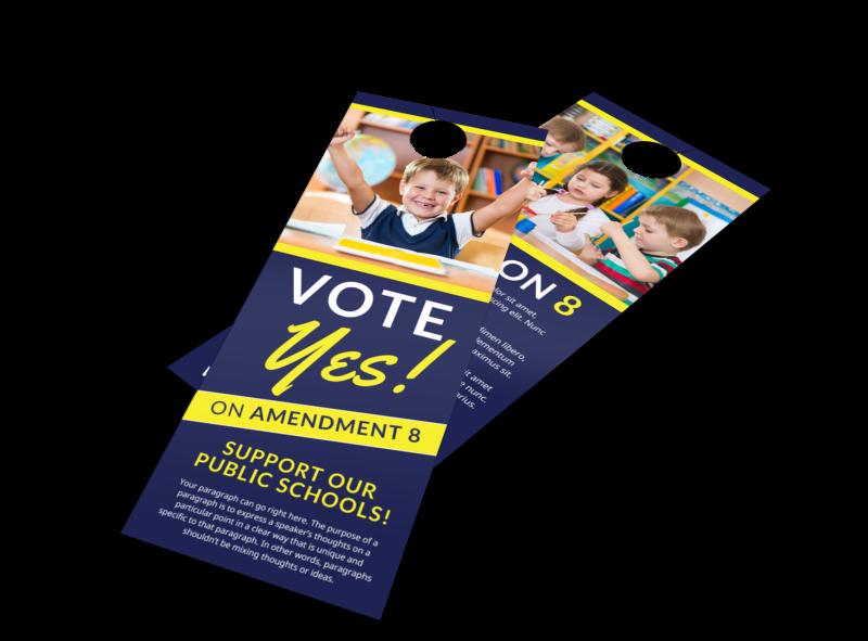 Vote Yes Door Hanger Template Preview 1