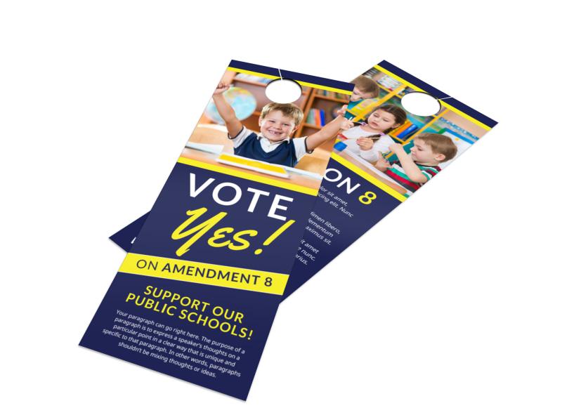 Vote Yes Door Hanger Template Preview 4