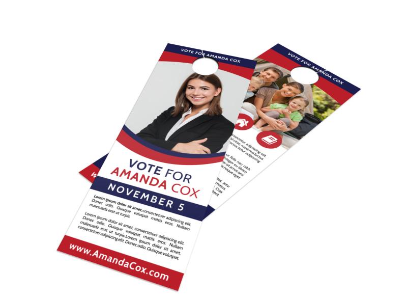 Vote For Door Hanger Template Preview 4