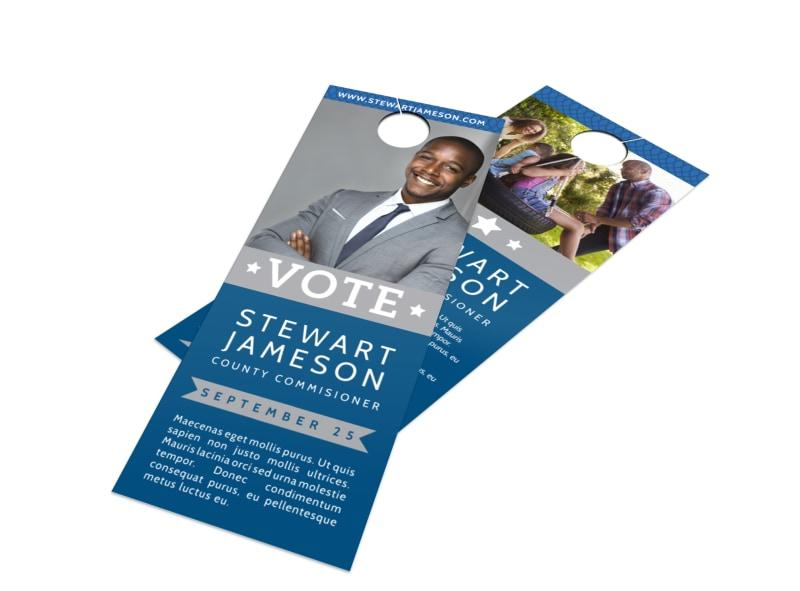 Simple Vote Door Hanger Template Preview 4