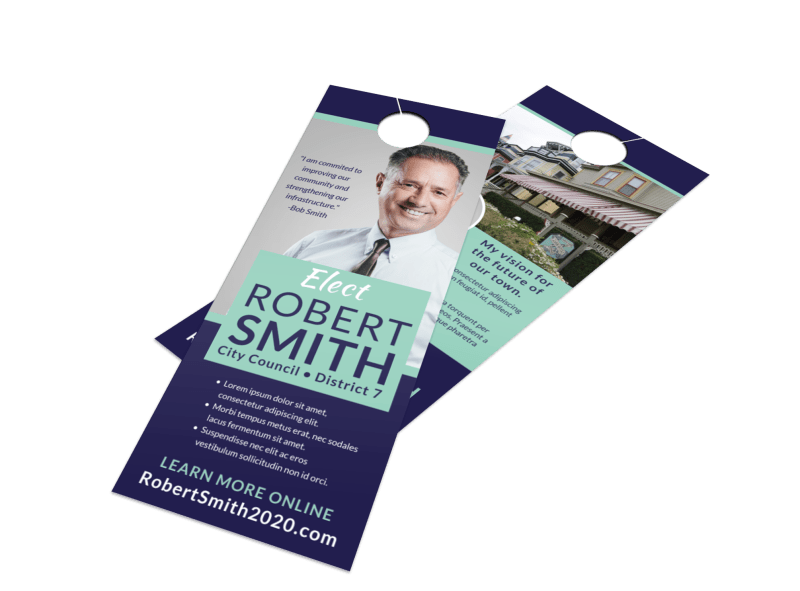Modern Political Door Hanger Template Preview 1