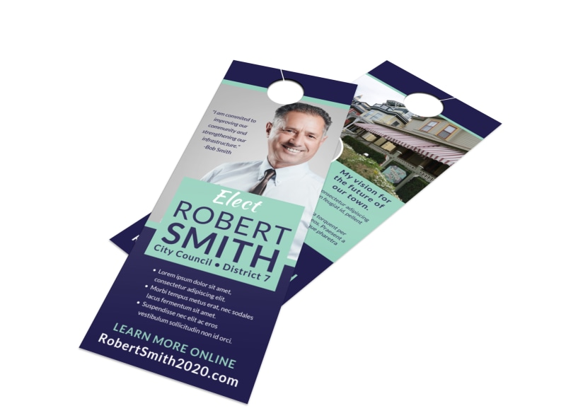 Modern Political Door Hanger Template Preview 4