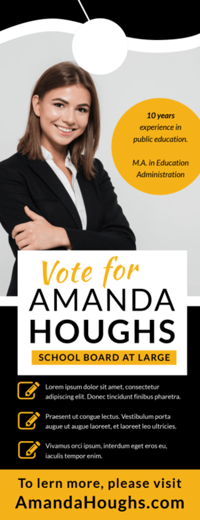 Vote For Political Door Hanger Template Preview 2