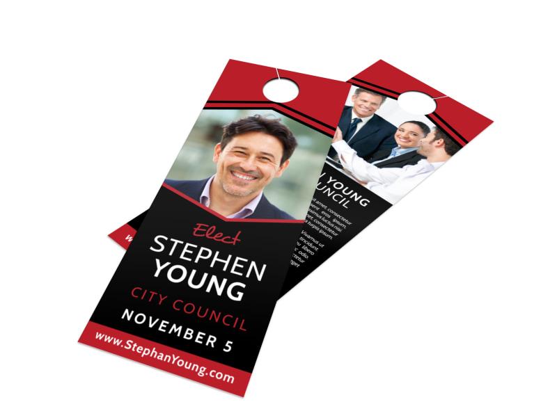 Cool Election Door Hanger Template Preview 4