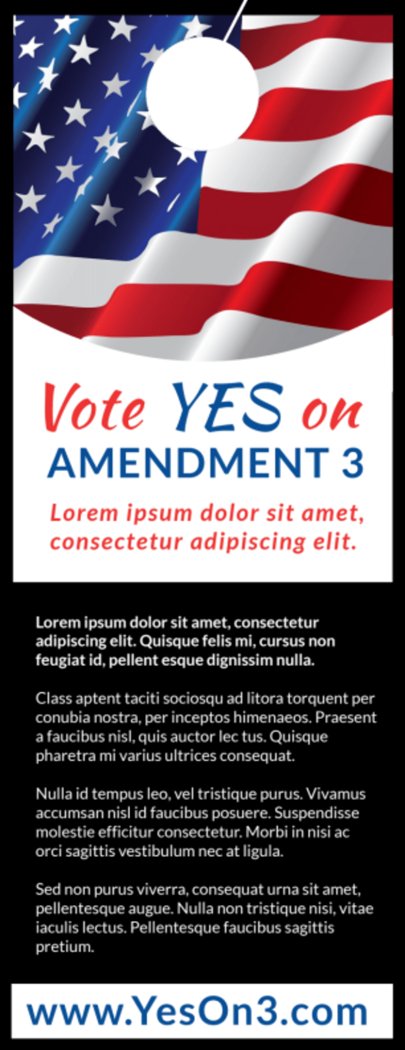Vote Yes On Door Hanger Template Preview 3