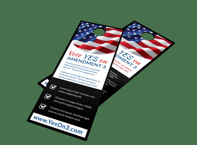 Vote Yes On Door Hanger Template Preview 1
