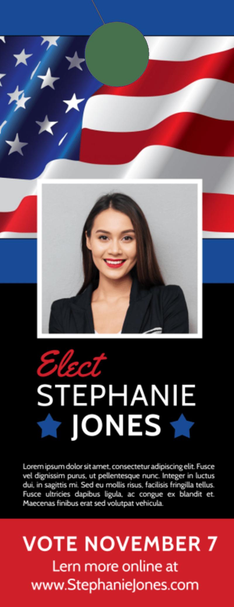 Elect Political Door Hanger Template Preview 2