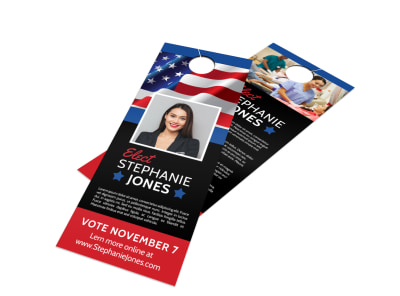 Elect Political Door Hanger Template preview