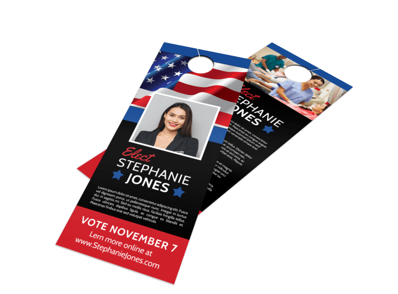 Elect Political Door Hanger Template Preview 1