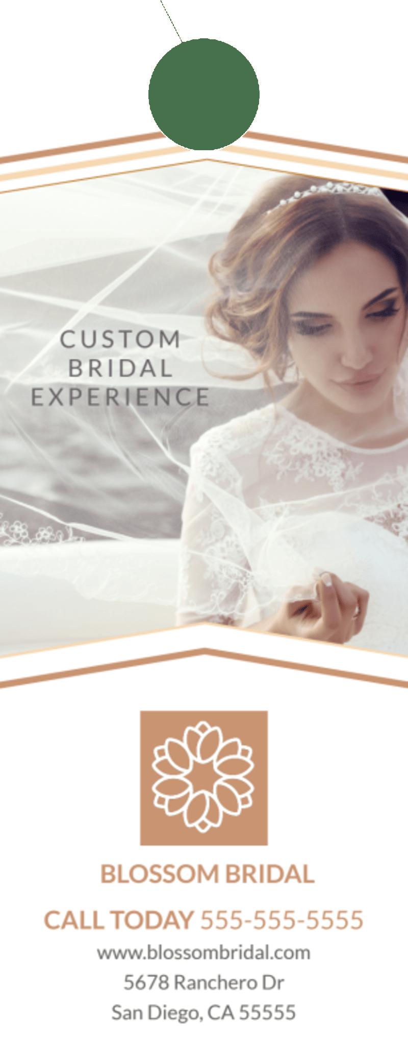 Wedding Bridal Experience Door Hanger Template Preview 2