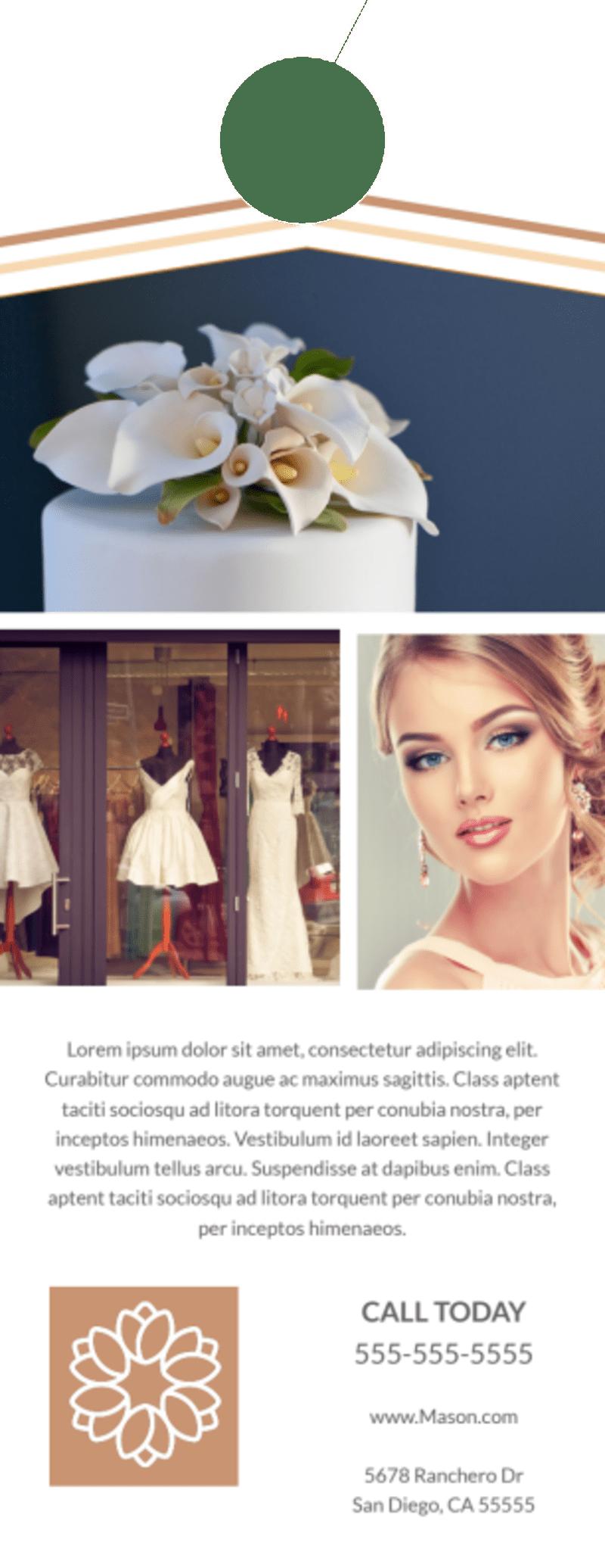 Wedding Bridal Experience Door Hanger Template Preview 3