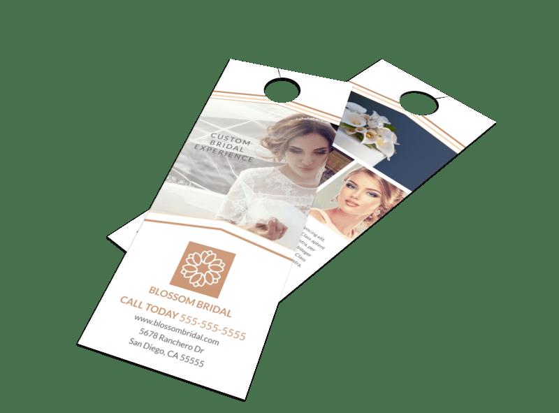 Wedding Bridal Experience Door Hanger Template Preview 1