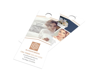 Wedding Bridal Experience Door Hanger Template preview