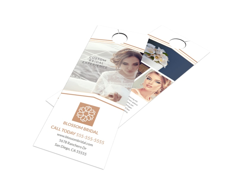 Wedding Bridal Experience Door Hanger Template Preview 4