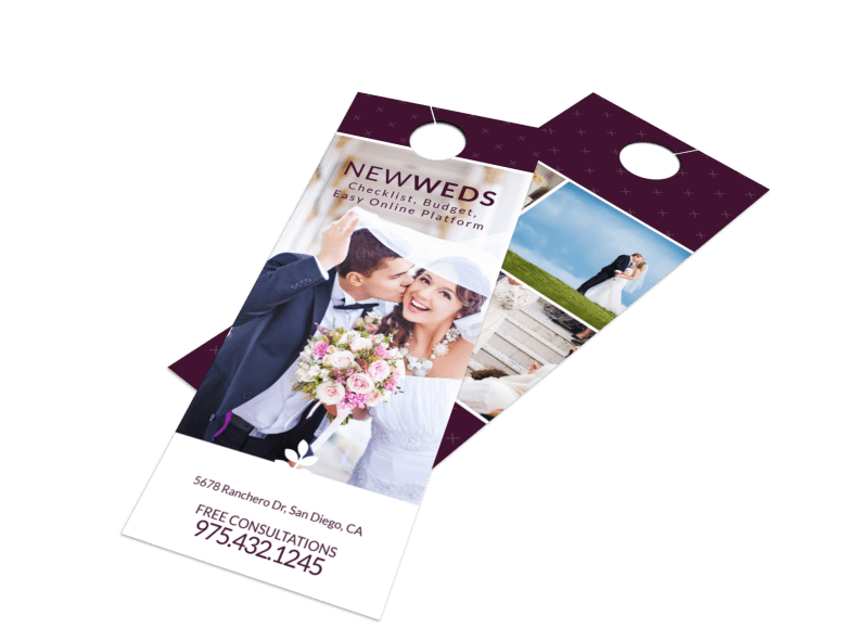 Newly Weds Door Hanger Template Preview 1