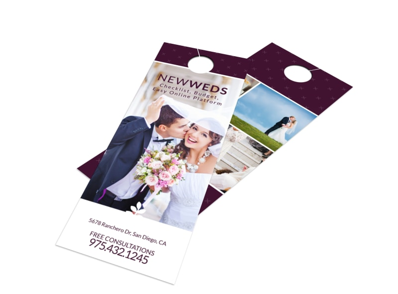 Newly Weds Door Hanger Template Preview 4