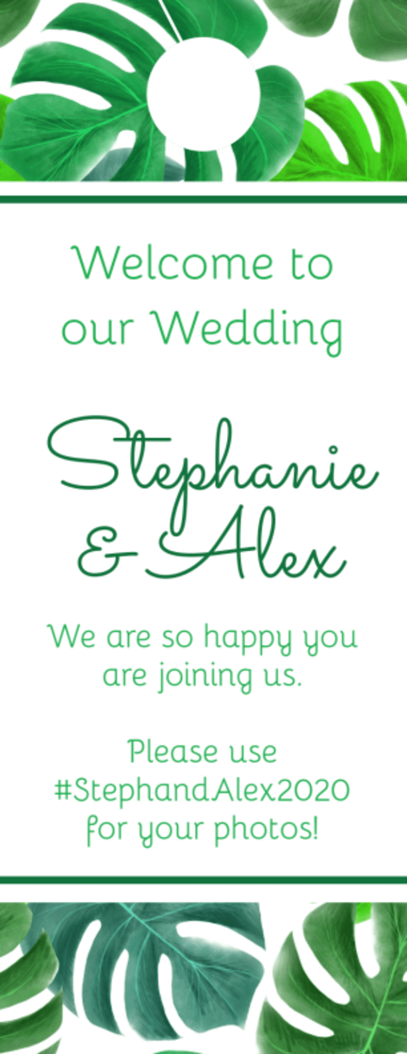 Green Wedding Door Hanger Template Preview 2