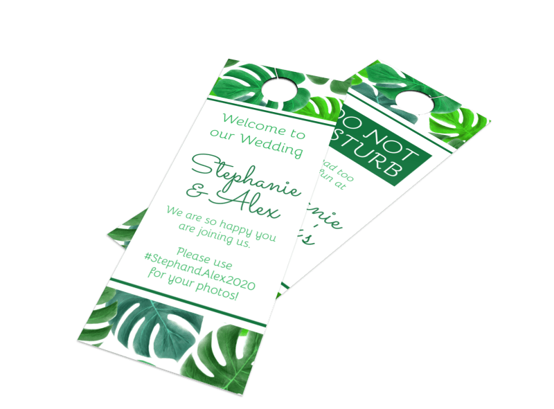 Green Wedding Door Hanger Template Preview 1