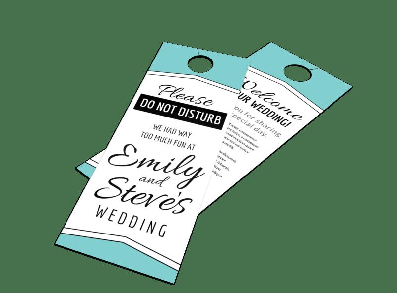 Fun Wedding Door Hanger Template Preview 1