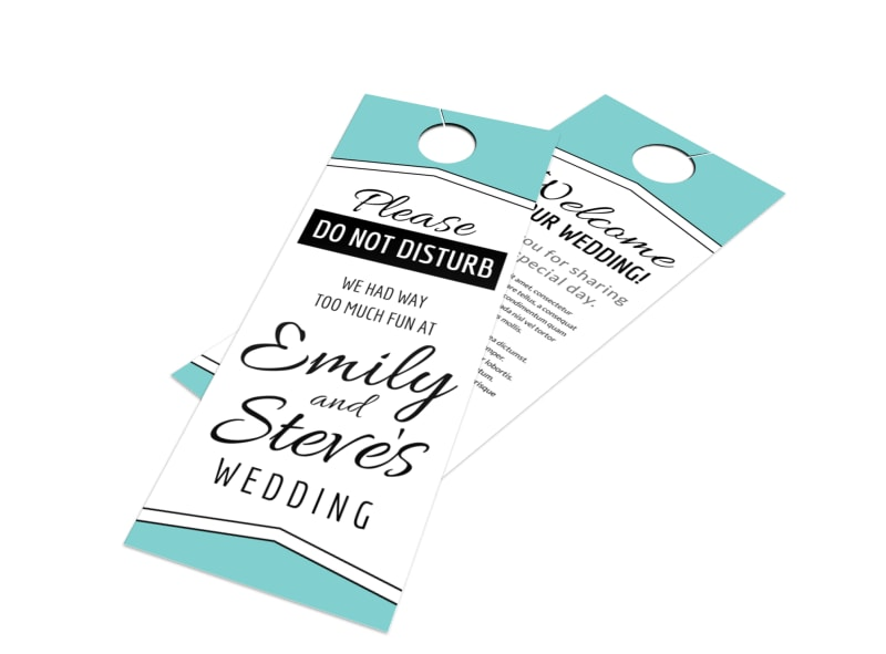 Fun Wedding Door Hanger Template
