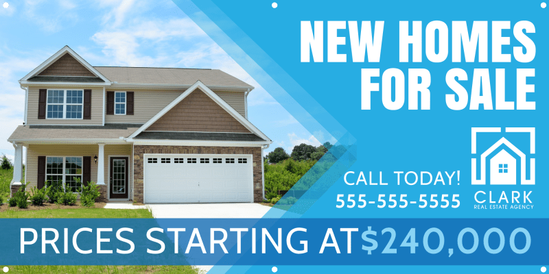 New Homes For Sale Banner Template Preview 2