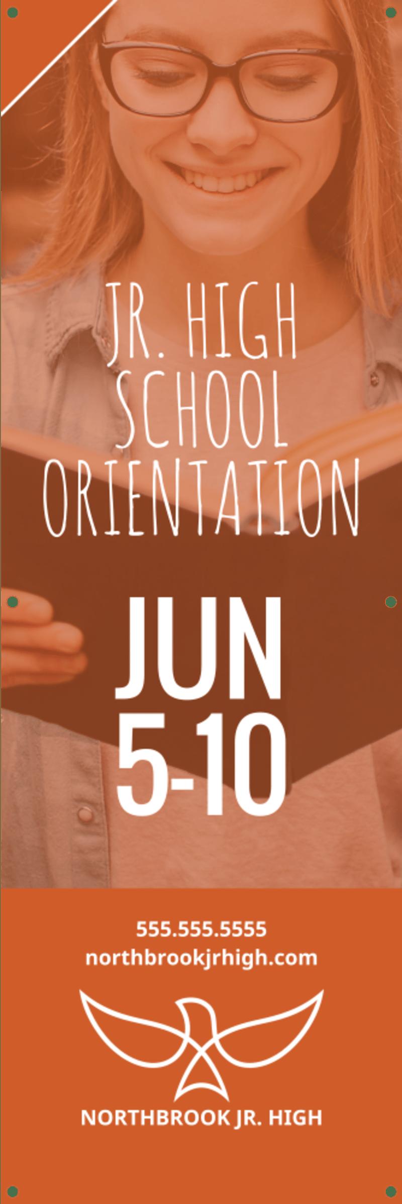 School Orientation Banner Template Preview 2