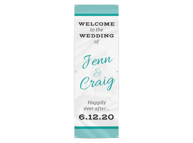 Welcome Wedding Banner Template Preview 1