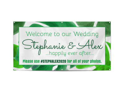 Green Wedding Banner Template preview