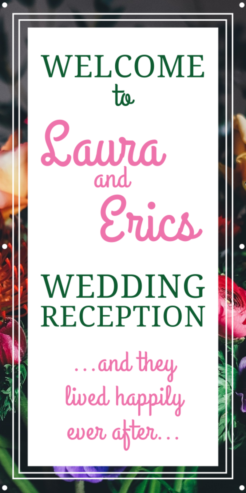Wedding Reception Banner Template Preview 2