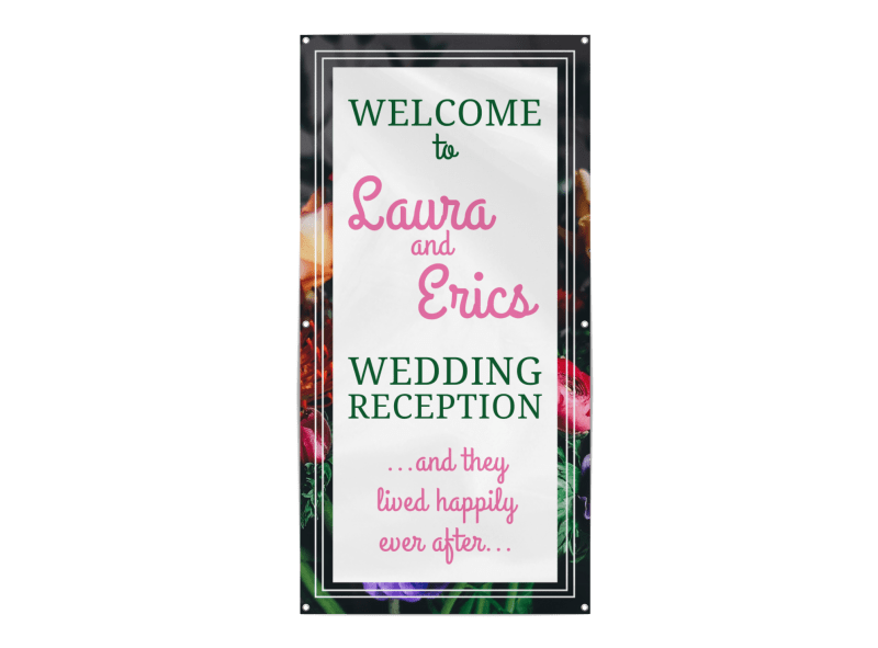 Wedding Reception Banner Template Preview 1