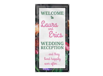 Wedding Reception Banner Template preview
