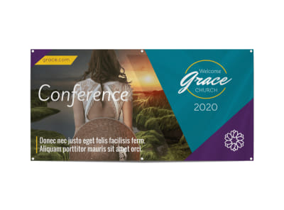 Church Conference Event Banner Template preview