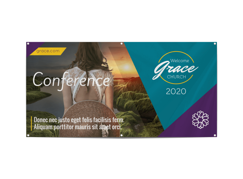 Church Conference Event Banner Template Preview 1