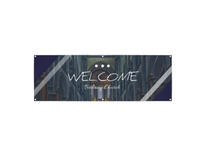 Church Welcome Banner Template