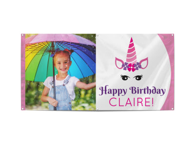 Kids Birthday Party Banner Template preview