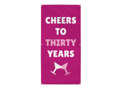 Cheers Birthday Party Banner Template preview