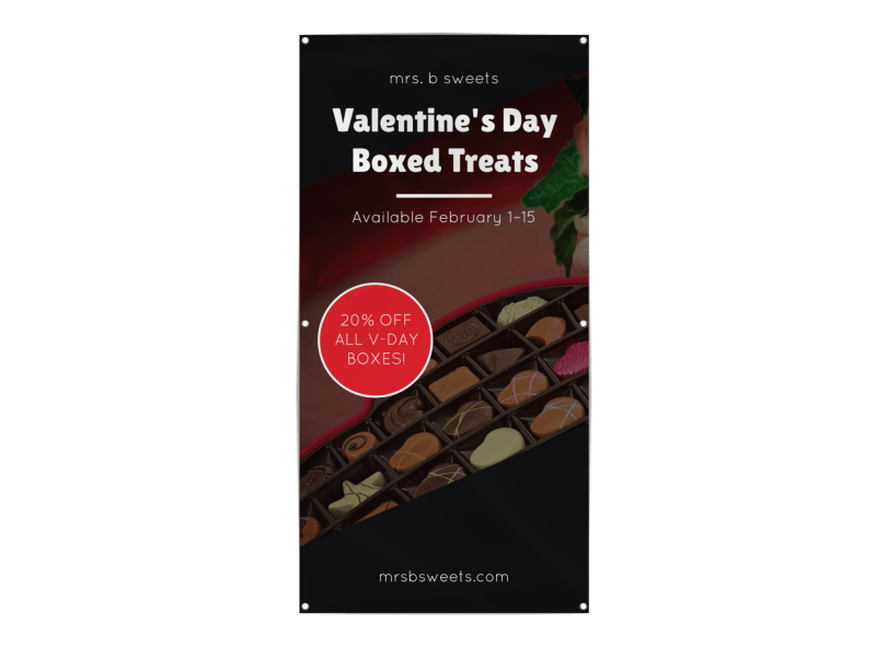 Valentine's Day Candy Banner Template Preview 1