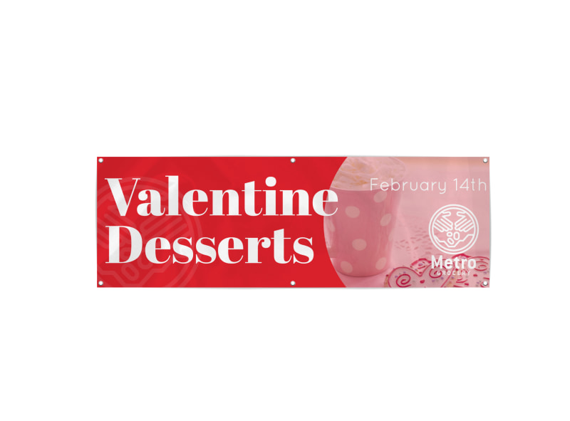 Valentine's Dessert Day Banner Template Preview 3