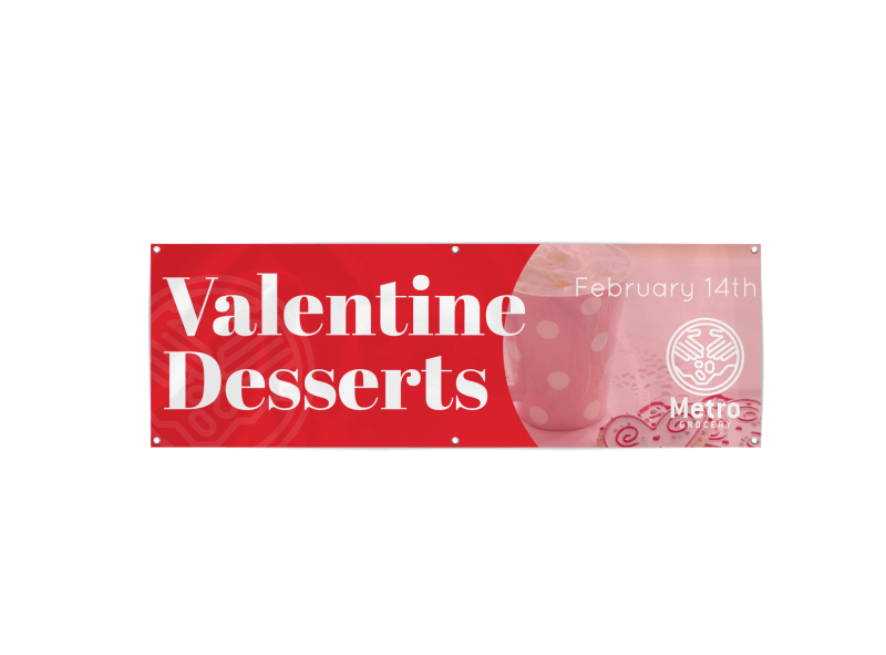 Valentine's Dessert Day Banner Template Preview 1