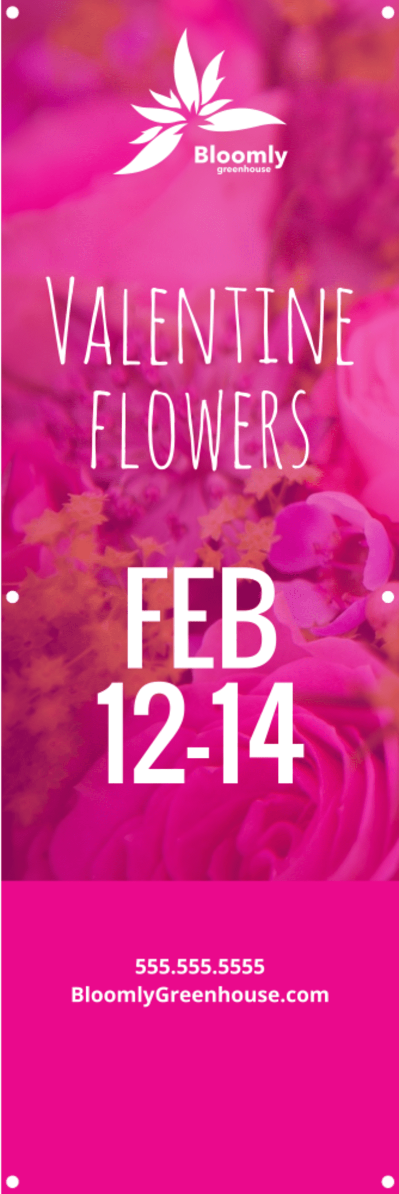 Valentine's Day Flowers Banner Template Preview 2