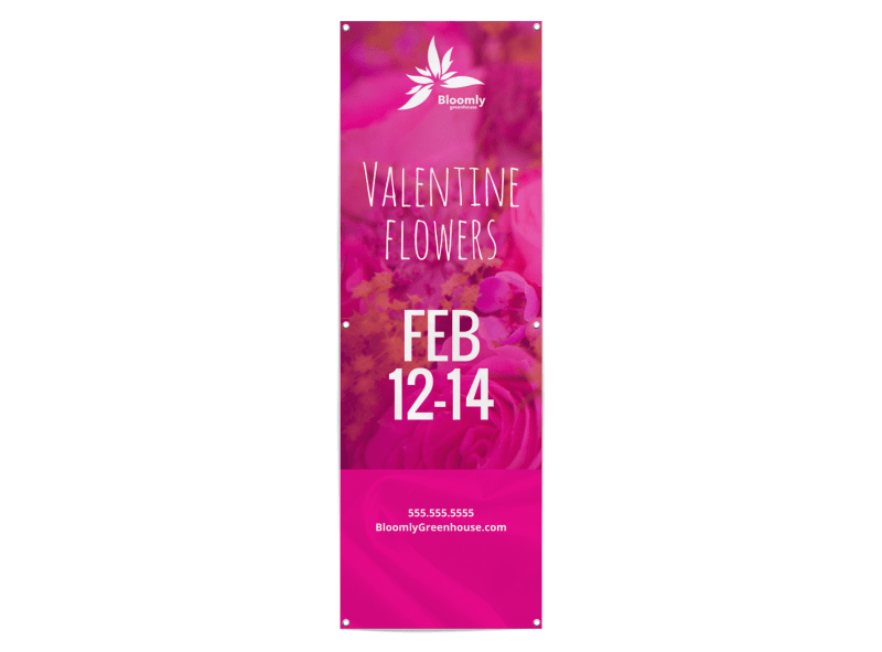Valentine's Day Flowers Banner Template Preview 1